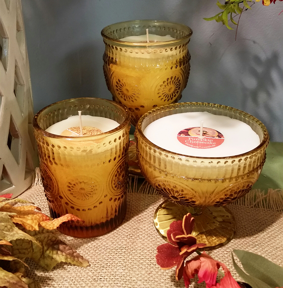 Amber Glass Candles