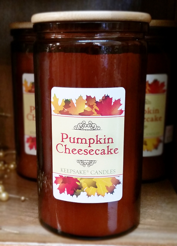 pumpkin cheesecake jar candle