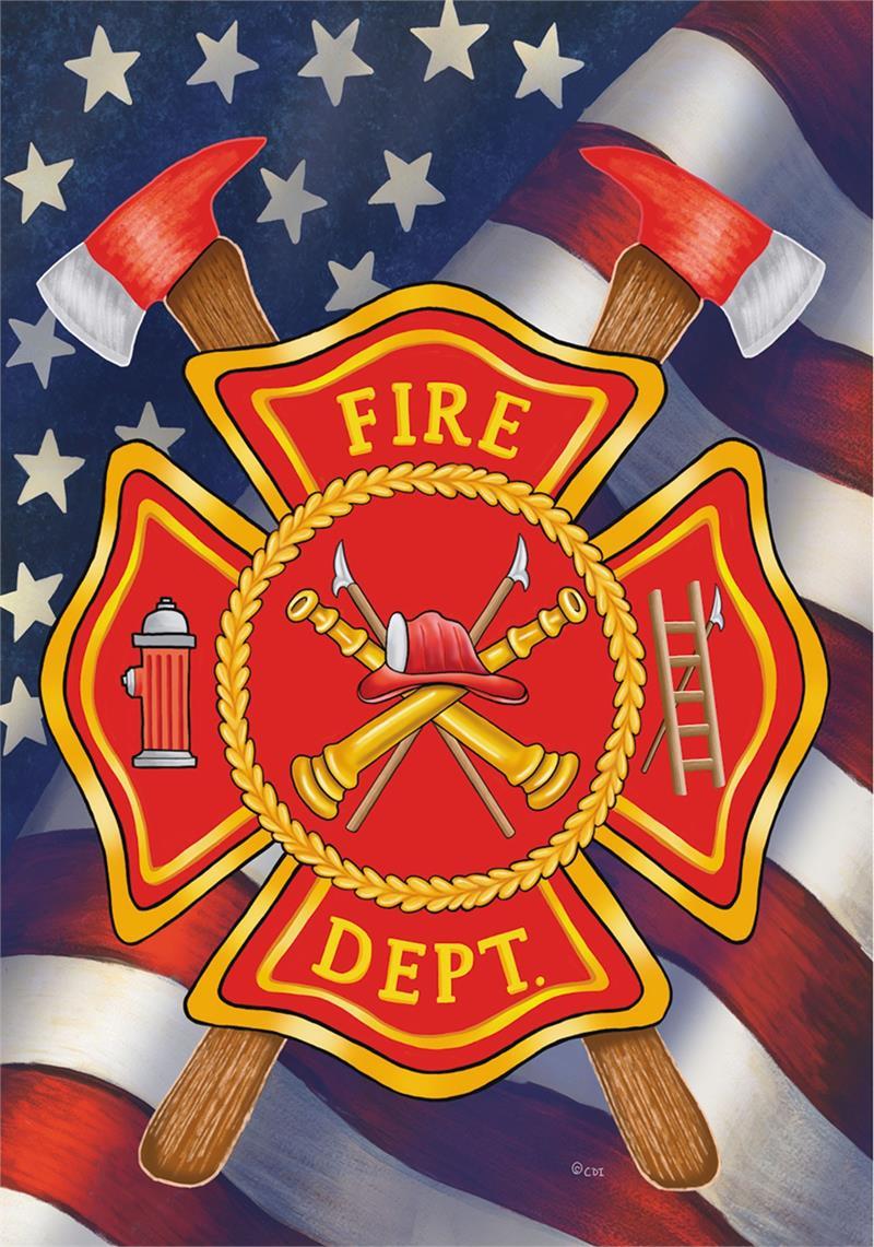 Patriotic Firefighters Flag