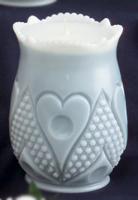 Heart & Thumbprint Celery Vase
