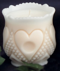 Heart & Thumbprint Spooner Candle