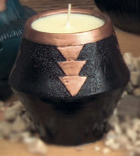 Triangle Pot Candle