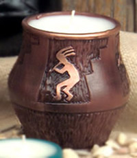 Kokopelli Pot Candle
