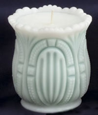Pleated Oval Spooner Candle